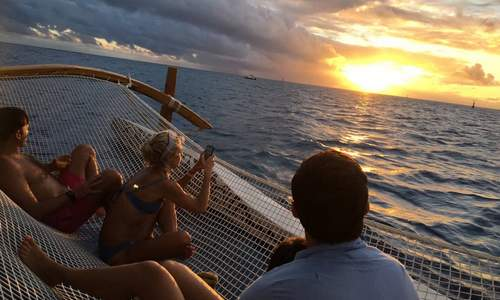 bora bora sunset group cruise